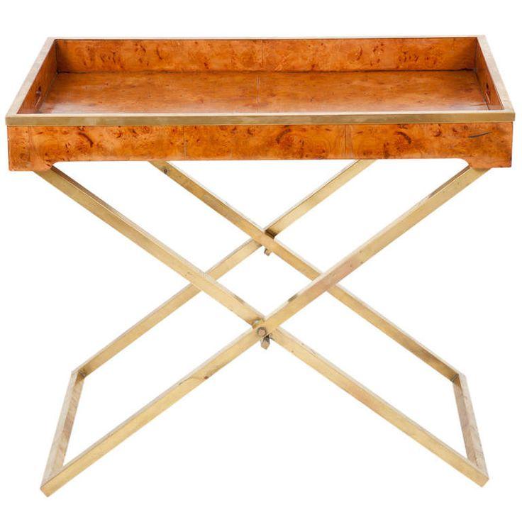 Superb American Modern Folding Tray Table