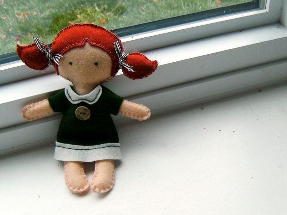 felt plush doll, M want's me to make her one but with eyelashes and a smile