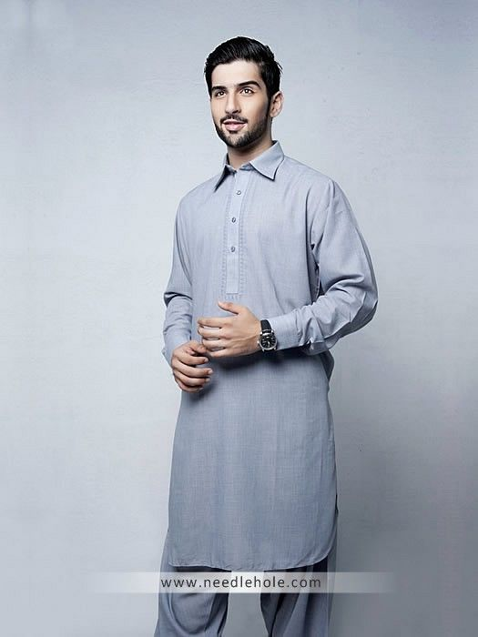 HSY embroidered shalwar kameez suit for men in london