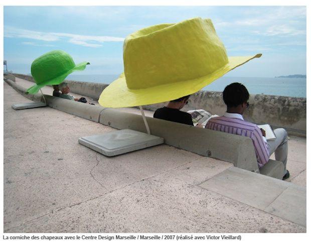 Humorous public art installations by Benedetto Bufalino