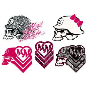 Metal Mulisha Maiden 5 Piece Sticker Pack 205993950