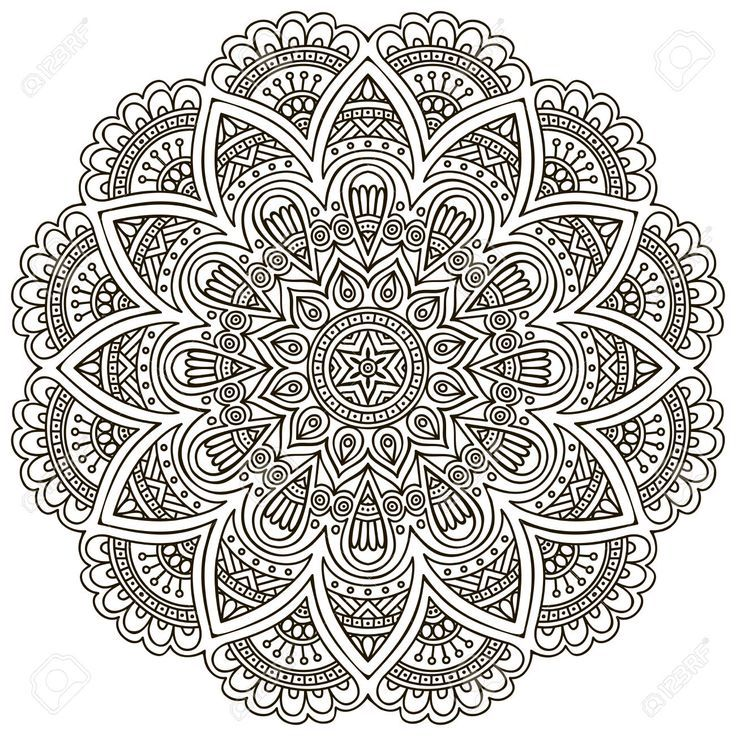 Mandala. Round Ornament Pattern. Vintage Decorative Elements... Royalty Free Cliparts, Vectors, And Stock Illustration. Pic 33156450.