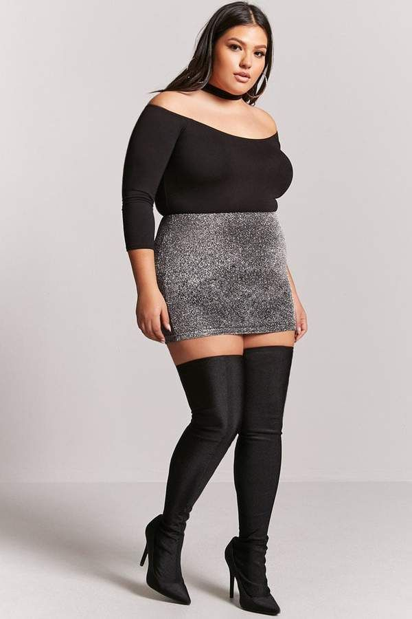 31b4a6bd047 Forever 21 Sheeny Over-the-Knee Sock Boots - Wide Fit  women  womensfashion   womenswear  top  skirt