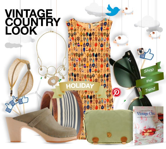Vintage country look - holiday - shopthemagazine.com