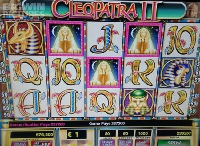 257.257€ with 1000€ bet on Cleopatra II live slot!