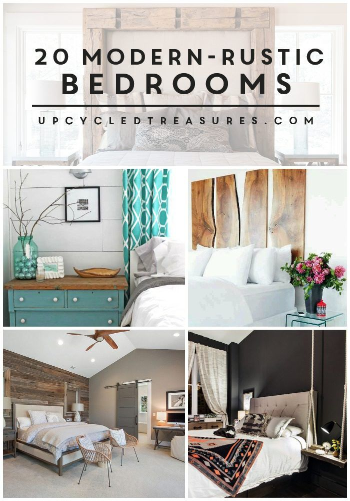 Looking for some bedroom design ideas? Check out these 20 inspiring Modern Rustic Bedroom Retreats! MountainModernLife.com via @MtnModernLife
