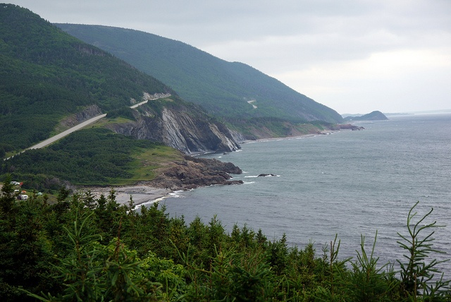 The beautiful Cabot Trail in Cape Breton, Nova Scotia. Best in the fall, but amazing any time of year.
