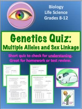 Genetics Quiz: Multiple Alleles and Sex Linkage