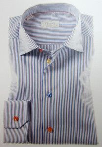 Eton Shirts: multi colored stripe