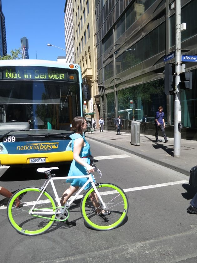 fighting for sanity in your city - sort of - A Beautiful City - Beautiful bikes in Bourke Street,Melbourne