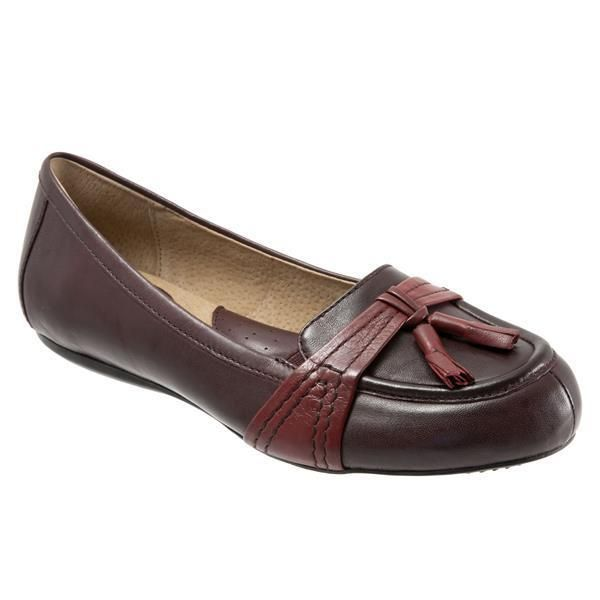SoftWalk Womens Neverland Oxblood Leather Loafers Shoes 6 Narrow (AA,N)  #SoftWalk #LoafersMoccasins