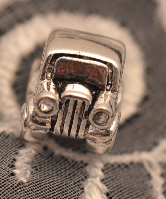 Charm Car for Pandora Bracelet Clear CZ by grammysattic12 on Etsy, $40.00: Jeeps Lady, Injections Living, Clear Cz, Bracelets Clear, Pandora Bracelets, Cars Clear, Fuel Injections, Cz Headlights, Charms Cars