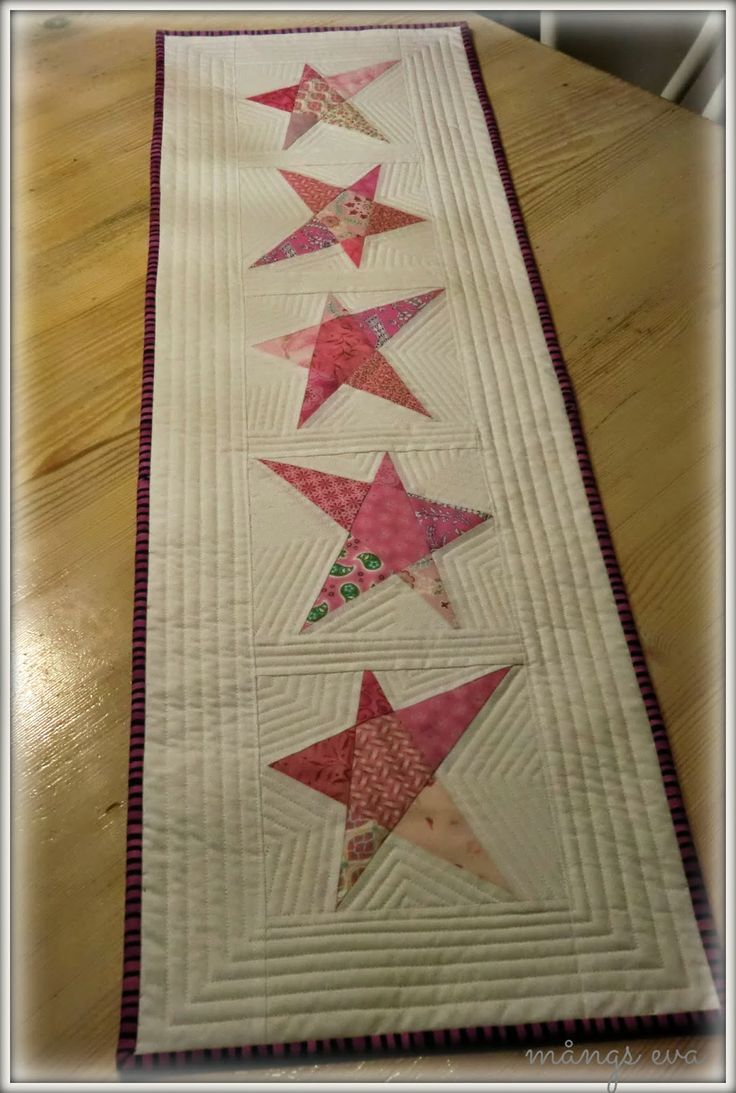Lovely table runner These stars look proud and patriotic!!