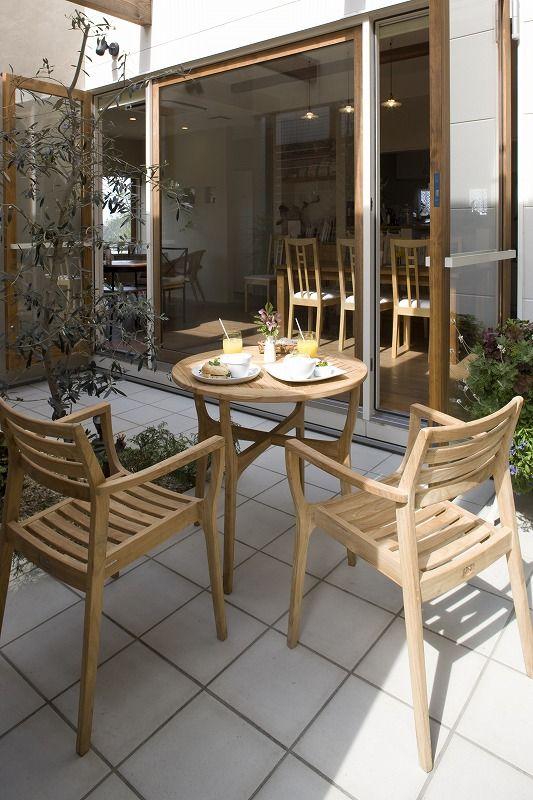 ロータステーブル3点セットM(オイルステン着色) #家具 #ファニチャー
