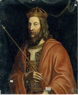 Portrait-du-roi-de-france-louis-ii-dit-le-begue-846-879 - 6) LE CONCILE DE TROYES DE 878 ET LE SACRE DE LOUIS LE BEGUE: Quelques problèmes sont résolus: LAMBERT DE SPOLETE ayant trahi le pape est excommunié. Par contre, l'évêque de Laon, déposé en 871, obtient sa réhabilitation, encore que emprisonné au moment de sa disgrâce, il ait eu les yeux crevés par ses ennemis. Vendeuvre relevant du diocèse de Langres, réintègre celui de Troyes.