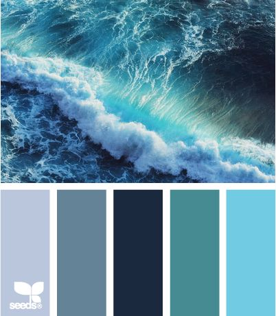 love these shades of blue....