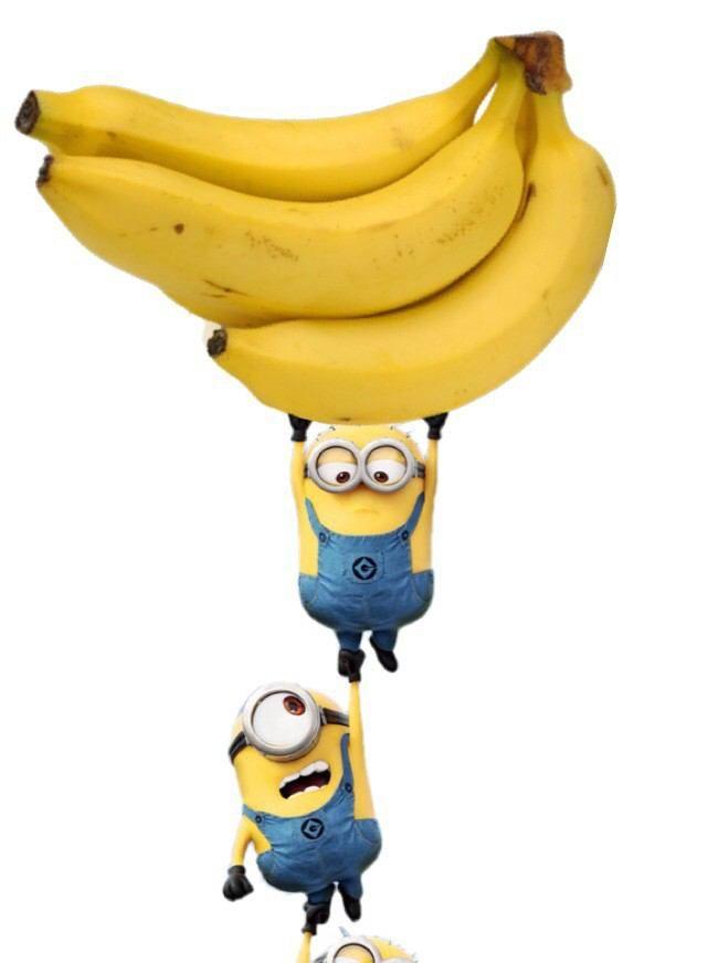 バナーナー♡ ミニオン バナナのイラスト