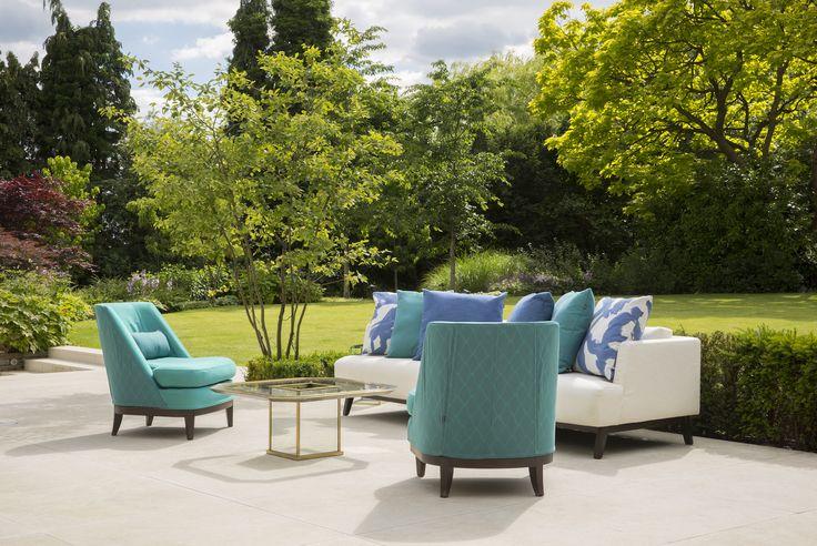 Coco Wolf Atlas/Justiano Chairs & Gocek sofa in Perennials fabrics