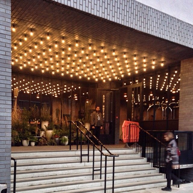 Ace Hotel in Shoreditch, Greater London.Hung on walls areTokyo bikes for hire,ride around trendy east London.Tokyo slow movement encourages riding with curiosity,plenty stops.Ace types want to move amongst creatives,find hidden restaurants,immerse themselves.Bike tours.