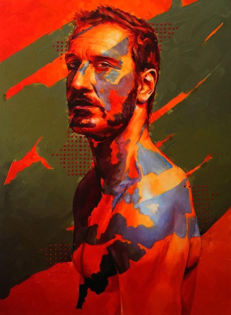 x=y 2015 by Corne Eksteen, Oil on canvas 900 x 1200 mm