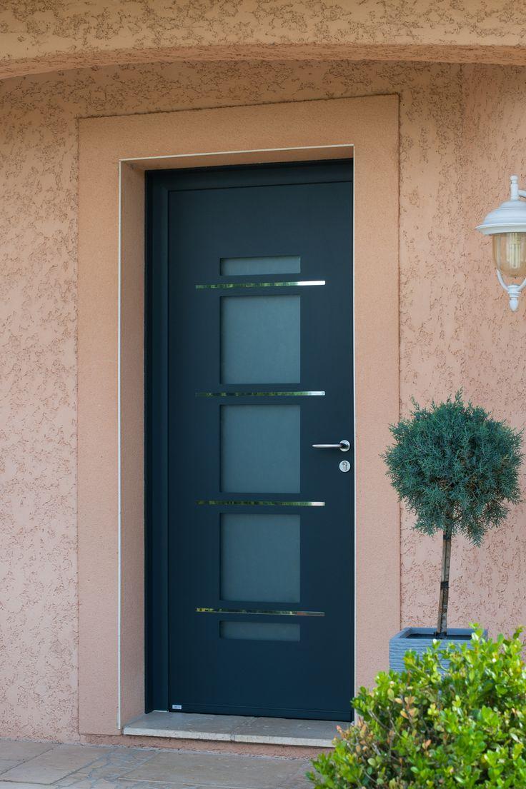 34 best portes aluminium zilten images on pinterest Porte entree aluminium
