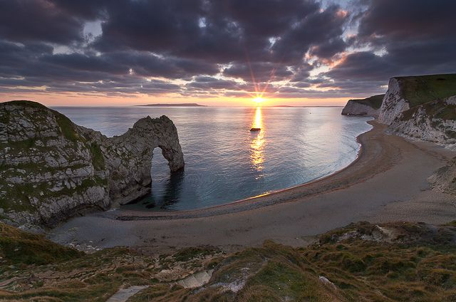 Sunset at Durdle Door - Jurassic Coast, Dorset, England, UK by David Briard, via Flickr