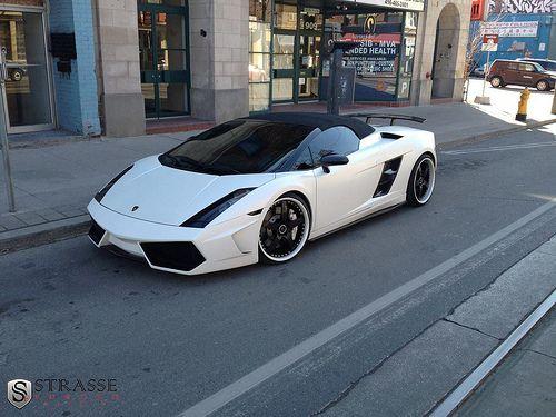 Lamborghini Gallardo White Black Rims Lamborghini Car