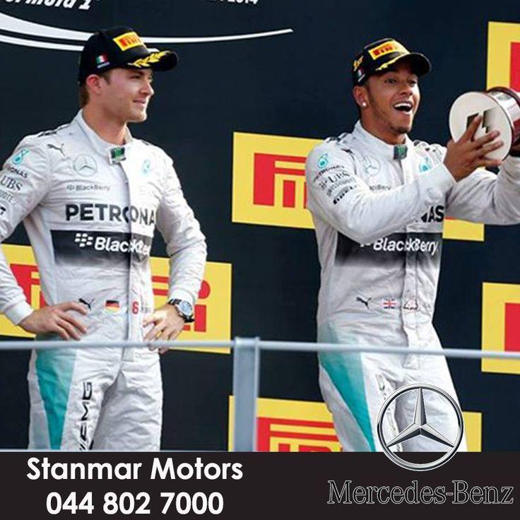 Lewis Hamilton WINS!! Nico Rosberg P2. Seventh 1-2 this season for the team! INCREDIBLE! #F1 #ItalianGP