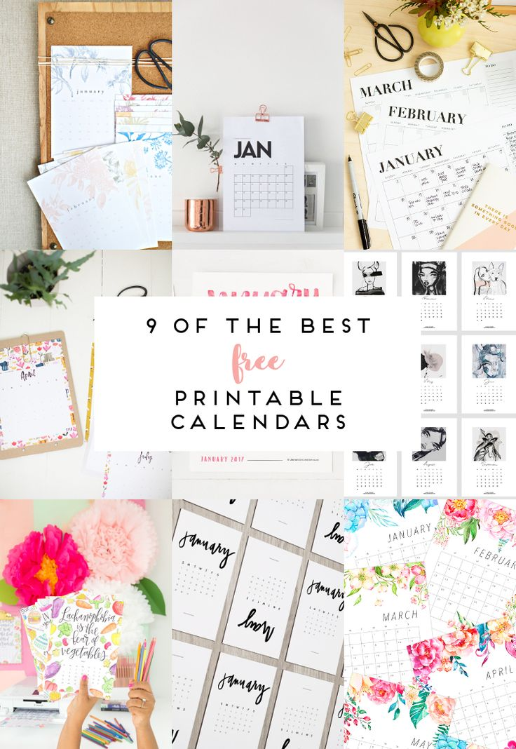 9 OF THE BEST FREE PRINTABLE CALENDARS 2017. | Craft ...