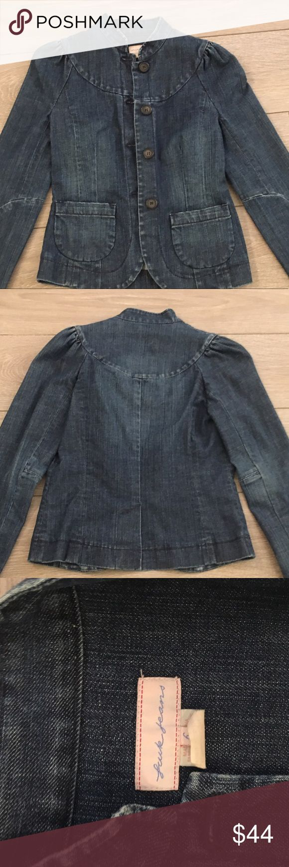 Fcuk jean jacket size 6 Great condition FCUK french connection jean jacket size 6 (small) French Connection Jackets & Coats Jean Jackets