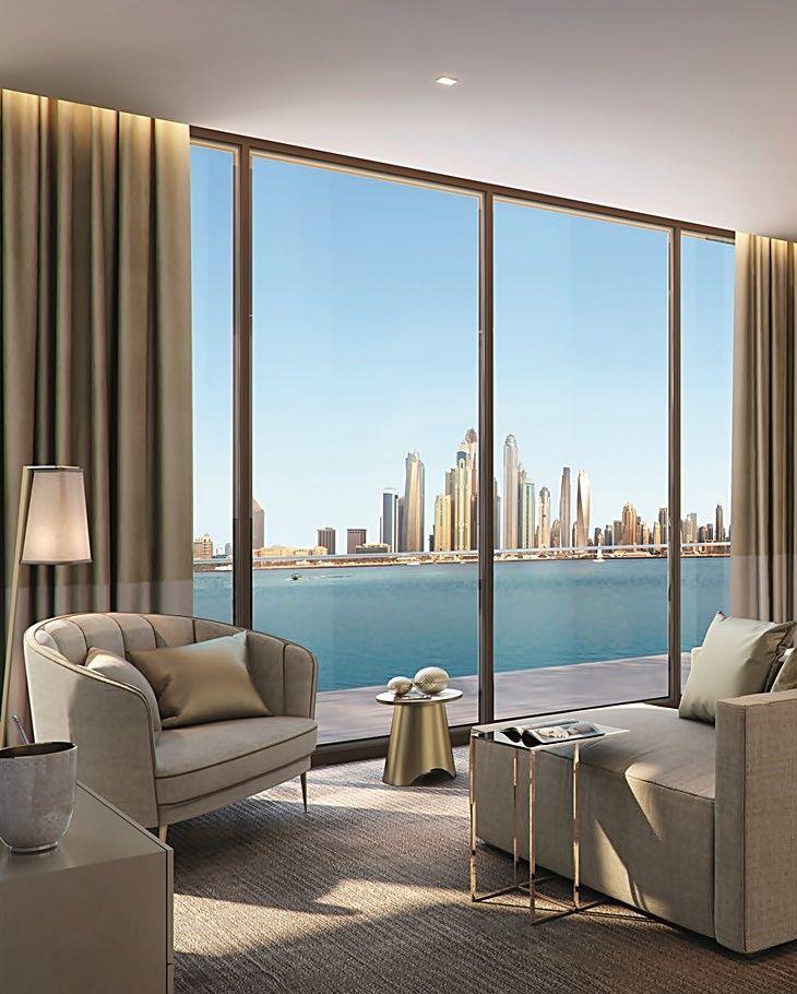 Royal Atlantis Dubai contará com 250 residências de luxo com acesso às instalações dos dois resorts e desfrutarão de vistas para o skyline de Dubai.