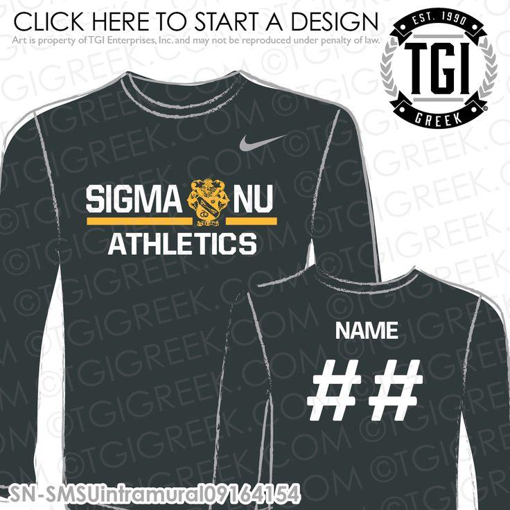 Sigma Nu | ΣΝ | Intramural | Athletics | Brotherhood | Greek Life | Intramural Tee | Intramural Jersey | TGI Greek | Greek Apparel | Custom Apparel | Fraternity Tee Shirts | Fraternity Tanks | Fraternity T-shirts