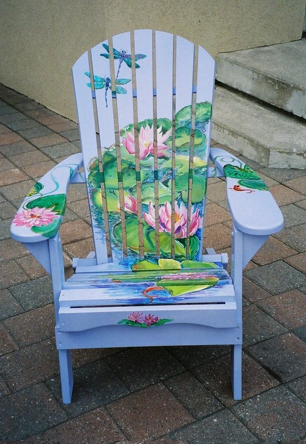 Painted chairs for charity the painted muskoka chairs - Sillas andaluzas decoradas ...