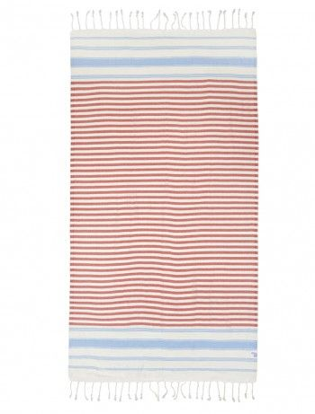 """St. Tropez is a cotton/bamboo mix """"hammam"""" towel, detailed by hand twisted tassels. Highly absorbent, light weight and fast drying, it is the ideal accessory for the beach, or travel. Easy to fit in any size of a bag, rucksack or suitcase. Perfect for beach towel/blanket, pareo, scarf or sun bed cover."""