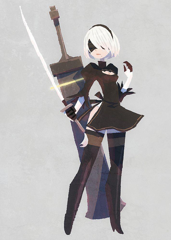 Character Design Nier Automata : メディアツイート ヒョーゴノスケ hyogonosuke さん twitter イラスト