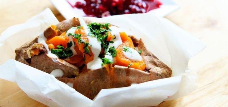 Vegan Whipped Sweet Potatoes With Chipotle Aioli Hero Image