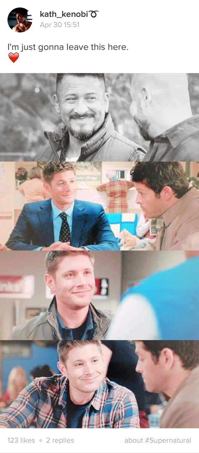 Oh come on this has to be a major parralel. Destiel is real okay look at that face!!