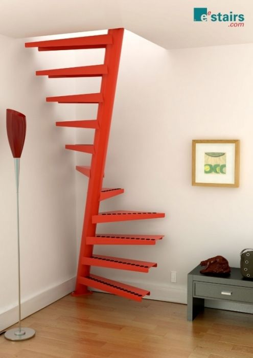 Loft stairs! Would not be safe for kids but at least stylistically more modern