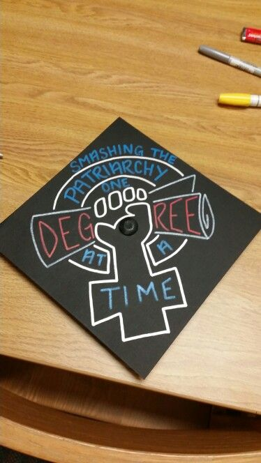 Graduation cap design! #feminism #graduationcap # ...