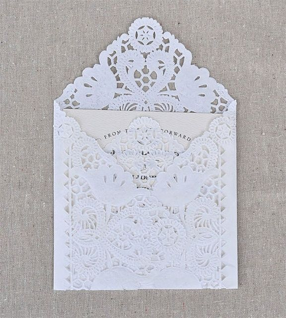 lace envelope. #lace #papergoods #invitation
