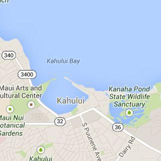 Kahului Airport Area Map By mauiinfosource.com - Google Maps