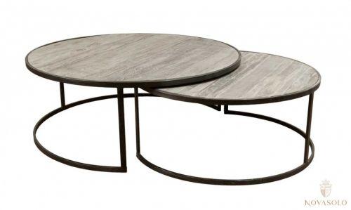 Tøft sett bestående av 2 stykk runde rustikke Old Amsterdam sofabord!Mål bord 1:Diameter 110 cmHøyde 42 cmMål bord 2:Diameter 90 cmHøyde 38 cmMateriale:Resirkulert eik og metallVedlikehold:Vi anbefaler bruk avAntikvax.Reduserer sprekker, smuss, forenkler renhold og tilfører mer fuktighet til trevirket, påføres umiddelbart.Varenummer:671039Varen er produsert i eik som er et levende materiale. Treverket vil bli påvirket av ytre påkjenninger som varme og luftfuktighet. S...