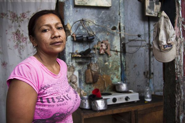 """They are always pushing and helping me to move forward and change the way I look upon life,"" says 37-year-old Jackeline Erazo, referring to volunteers with the Colombian Red Cross's Panica programme, which reaches out to vulnerable families in Cali's impoverished El Calvario neighbourhood. ""They also help with food and education, and they are teaching my children in order to prevent them from engaging in criminal activity. When they come I feel happy — more protected and not so alone.""…"