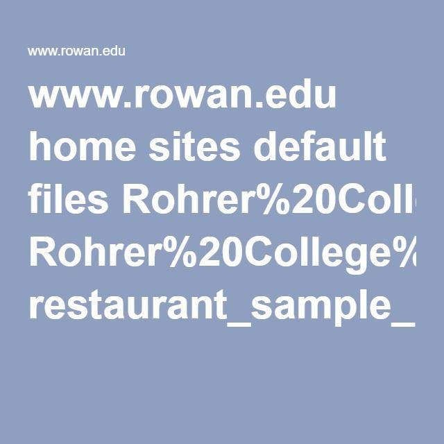 www.rowan.edu home sites default files Rohrer%20College%20of%20Business restaurant_sample_business-plan.pdf
