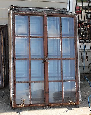 Vintage Steel Framed Casement Windows With Cranks 1920 S