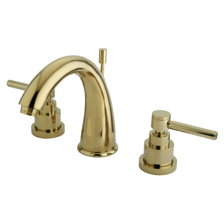 Kingston Brass KS2962EL Widespread Lavatory Faucet, Polished Brass - Price: $245.95 & FREE Shipping over $99     #kingstonbrass