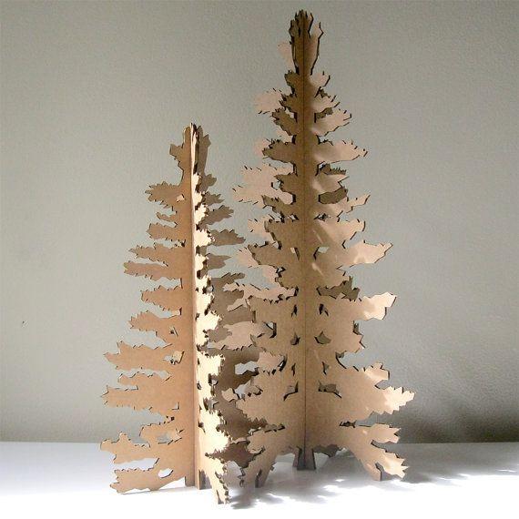 Albero di Natale cartone - Eco Laser taglio Holiday decorazione on Etsy, 15,09€