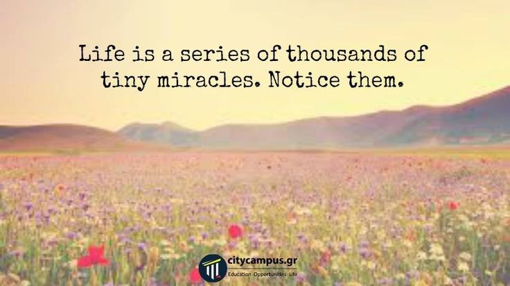 You are a miracle, too! #citycampus
