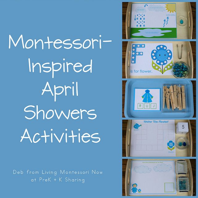 Montessori-Inspired April Showers Activities #SuliaMoms