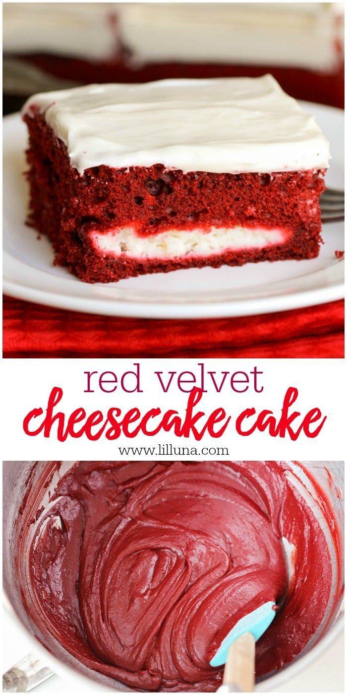 Red Velvet Cheesecake Cake Homemade Cream Cheese Frosting Recipe In 2020 Red Velvet Cheesecake Cake Red Velvet Cheesecake Cheesecake Cake